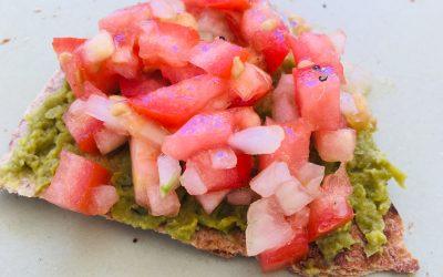 Krokante wrap met tomatensalsa