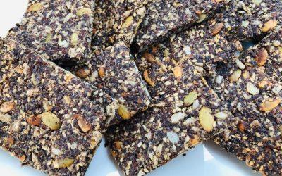 Voedzame crackers van lijnzaad